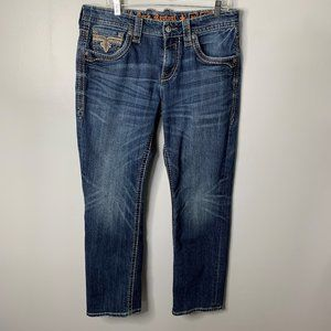 Rock Revival Gore Relaxed Straight Leg Jeans L31